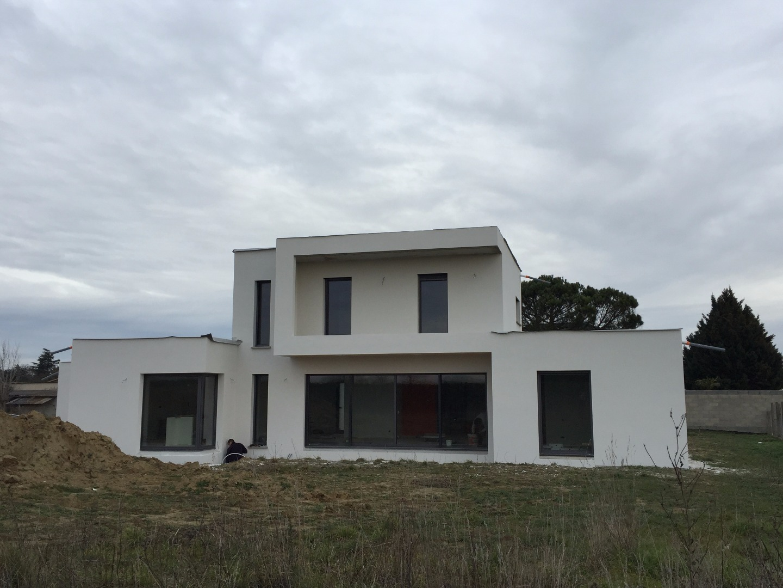 Construction maison toit terrasse à Labarthe sur Lèze